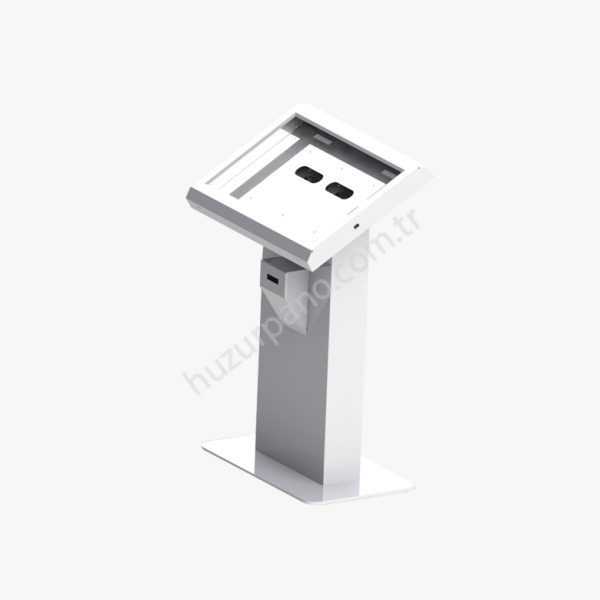 curve desk kiosk